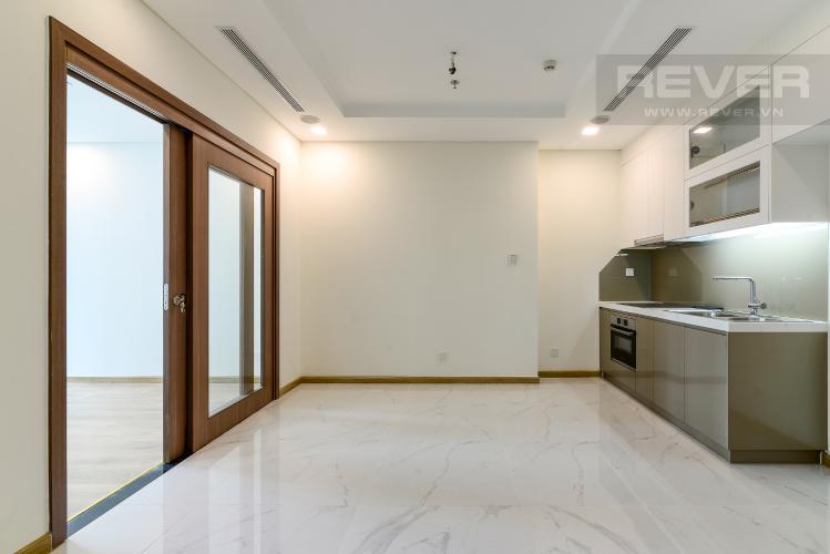 Phòng Khách Bán căn hộ Vinhomes Central Park 1PN, tháp Landmark 81, nội thất cơ bản, view Xa lộ Hà Nội