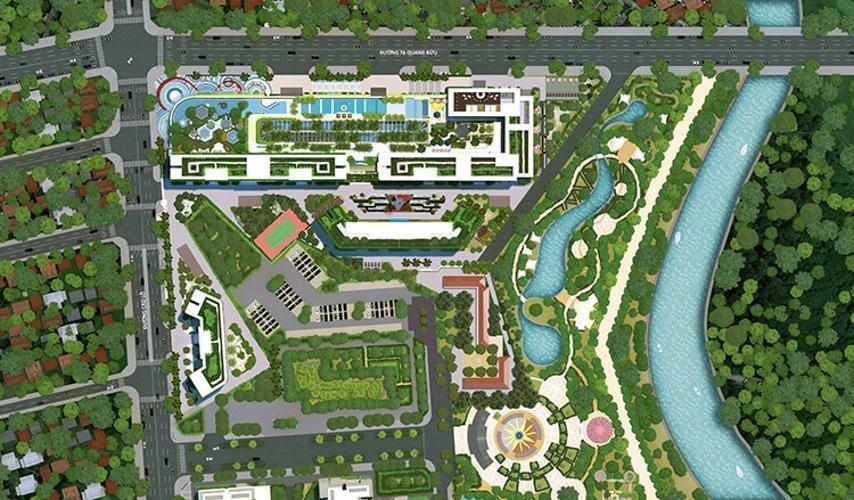 Mặt bằng Căn hộ Topaz Elite quận 8 Căn hộ Topaz Elite thiết kế hiện đại, view thoáng mát