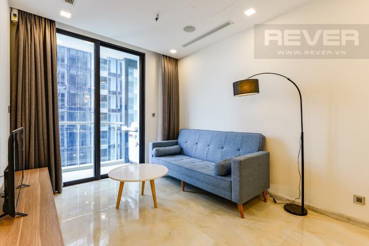 Phòng khách Cho thuê căn hộ Vinhomes Golden River tầng cao, 1PN, view sông