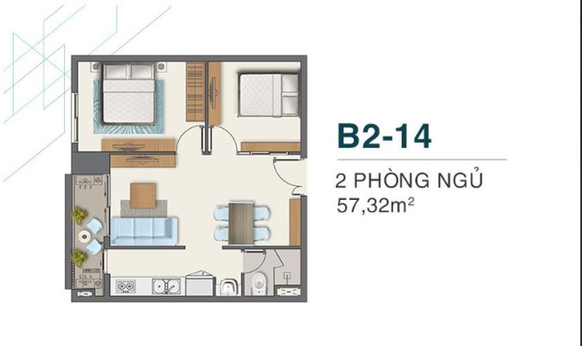 Mặt bằng căn hộ Q7 Boulevard Bán căn hộ Q7 Boulevard tầng trung, view nội khu.