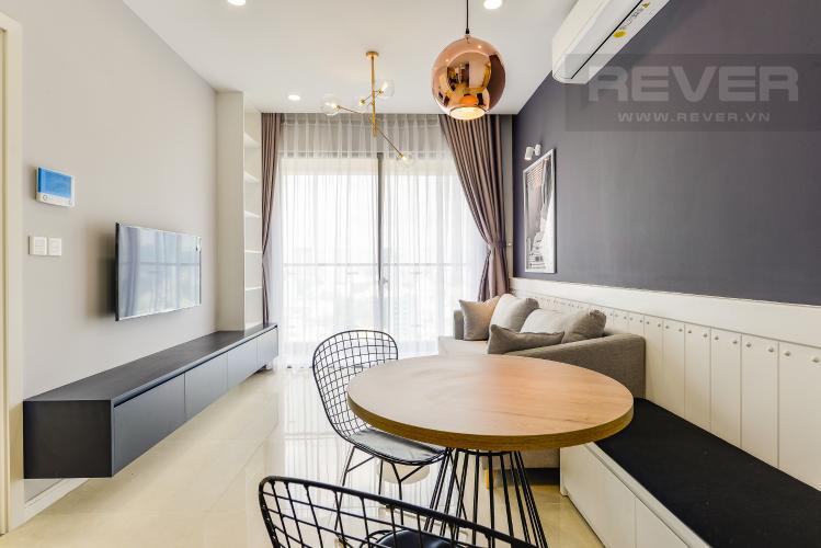 Phòng khách Cho thuê căn hộ Masteri Millennium tầng cao, 2PN, view sông