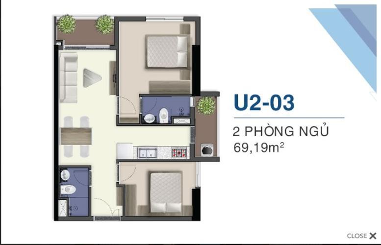 Căn hộ Q7 Saigon Riverside tầng cao, đón gió thoáng mát.