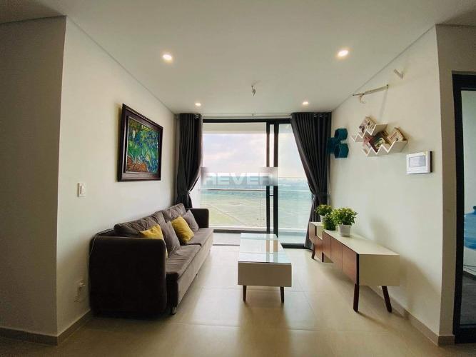 Phòng khách Thủ Thiêm Dragon, Quận 2 Căn hộ Thủ Thiêm Dragon view thoáng mát, đầy đủ nội thất.