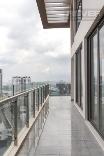 Ban Công Bán penthouse Masteri Millennium 3PN, block A, không nội thất, thiết kế thông tầng, view panarama thành phố