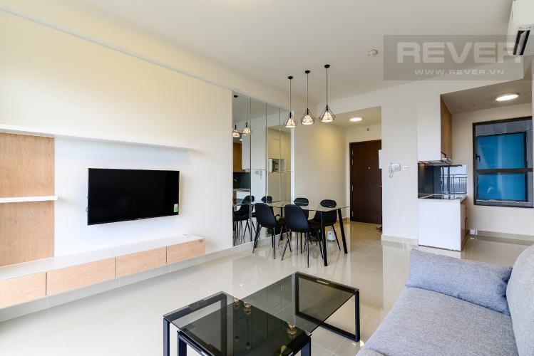 Phòng Khách Cho thuê căn hộ The Sun Avenue 3 phòng ngủ, tầng cao block 5, đầy đủ nội thất cao cấp