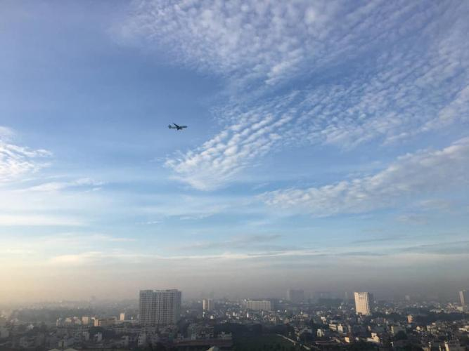 view cảnh căn hộ Him Lam Phú Đồng Căn hộ Him Lam Phú Đông, tầng cao, ban công hướng Đông Nam.
