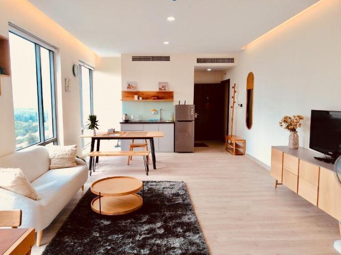 Cho thuê căn hộ Golden King 1PN, diện tích 44m2,  đầy đủ nội thất, view rộng thoáng