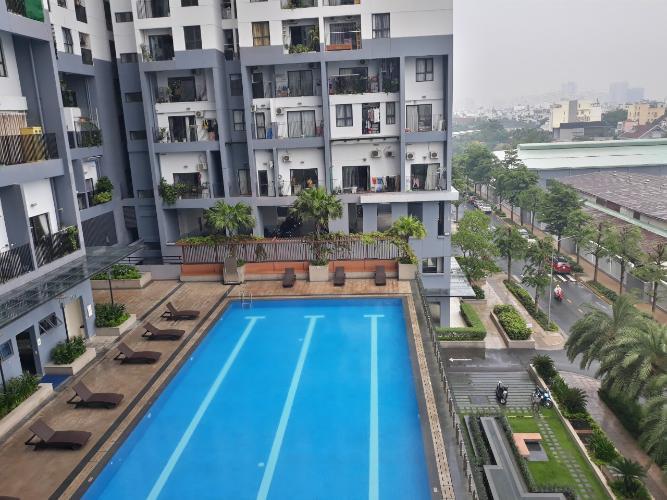 Hồ bơi căn hộ M-One Nam Sài Gòn Căn hộ M-One Nam Sài Gòn ban công hướng Đông Nam, nội thất đầy đủ.