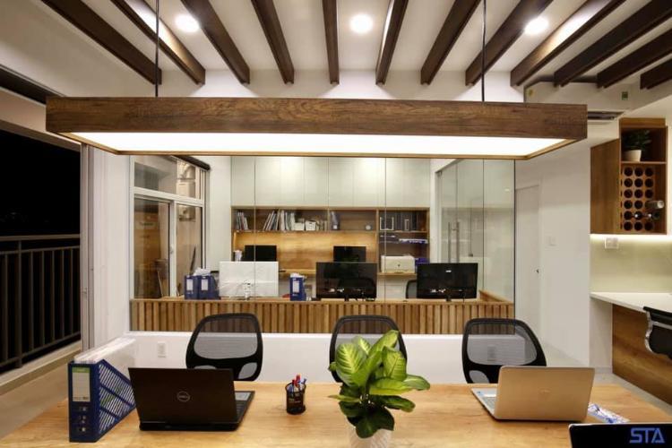 Căn hộ Sunrise Riverside tầng thấp, đầy đủ văn phòng nội thất.