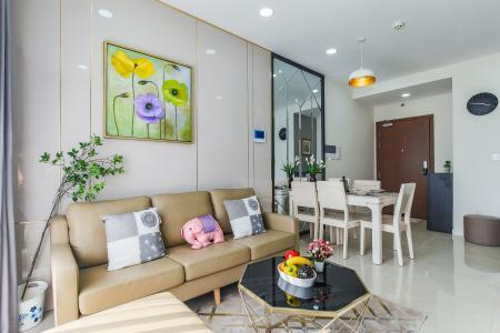 Cho thuê căn hộ Masteri Millennium Quận 4 tầng cao, 2PN, đầy đủ nội thất