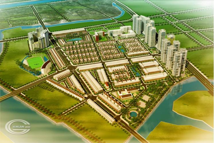 Tổng thể khu dân cư Him Lam Tân Hưng Mặt bằng kinh doanh Khu dân cư Him Lam, diện tích 100m2.
