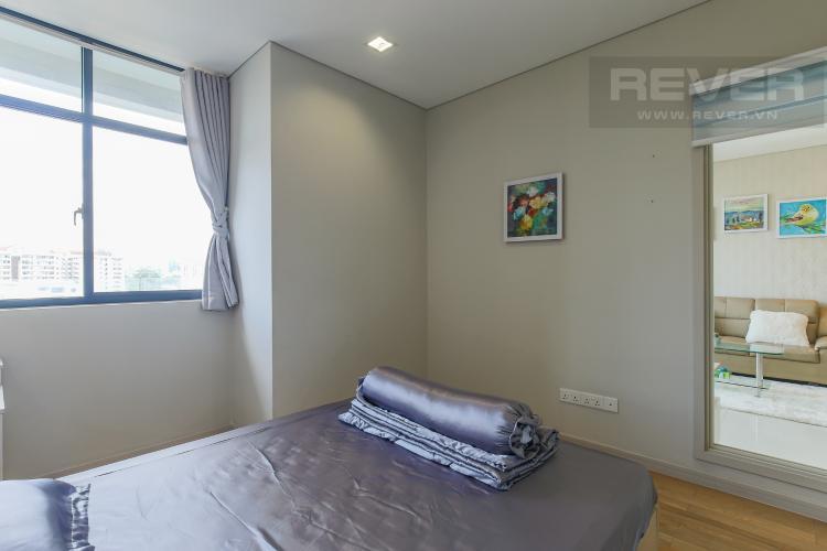 Phòng Ngủ Cho thuê căn hộ City Garden tầng trung 1 phòng ngủ, đầy đủ nội thất, view hồ bơi mát mẻ