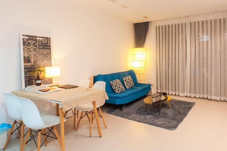 Bán căn hộ The Gold View 1PN, tầng trung, đầy đủ nội thất, hướng cửa Tây Nam