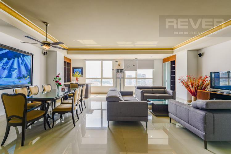 Phòng khách Penthouse The Manor 4 phòng ngủ tầng cao AW nội thất đầy đủ
