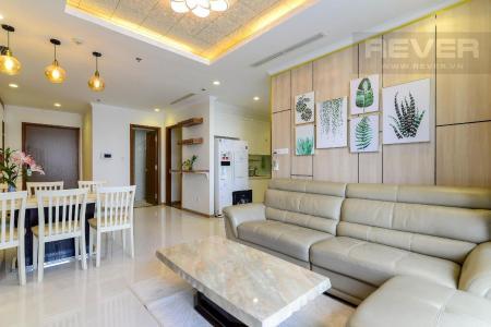 Cho thuê căn hộ Vinhomes Central Park 3PN, tầng cao, đầy đủ nội thất, view sông thông thoáng