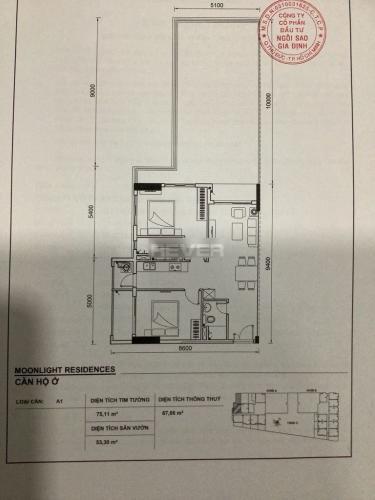 Mặt bằng căn hộ Moonlight Residence Căn hộ góc tầng 03 chung cư Moonlight Residence nội thất gỗ