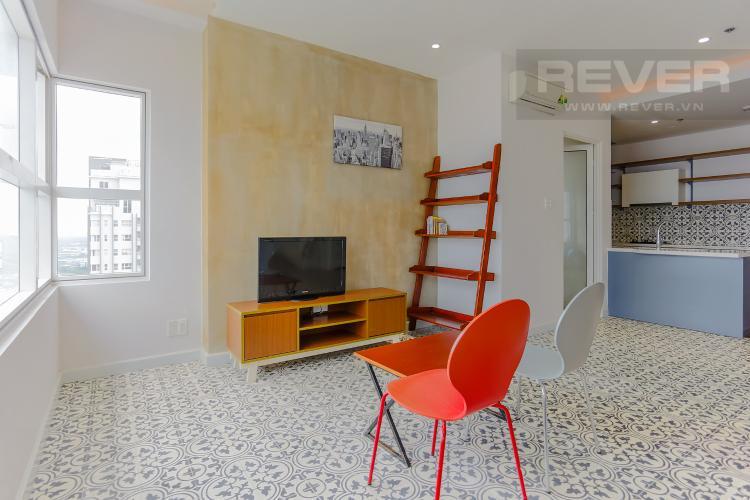 Phòng Khách Căn hộ Sunrise City 1 phòng ngủ tầng cao X2 thiết kế hiện đại