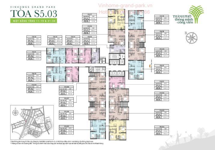 118A00FA-2C9F-4D2E-856B-88BD33224A38 Bán căn hộ tầng trung - Vinhomes Grand Park, 1 phòng ngủ, diện tích sàn 29.9m2