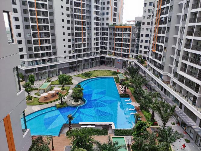 view tổng thể hồ bơi căn hộ Safira khang điền Cho thuê căn hộ tầng cao, đầy đủ nội thất Safira Khang Điền