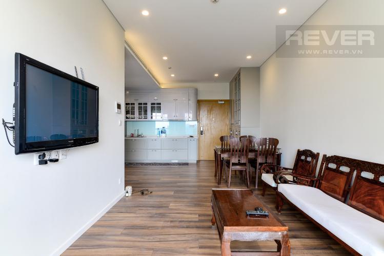 Phòng Khách Cho thuê căn hộ Diamond Island - Đảo Kim Cương 1PN, tầng trung, tháp Hawaii, đầy đủ nội thất, view hồ bơi