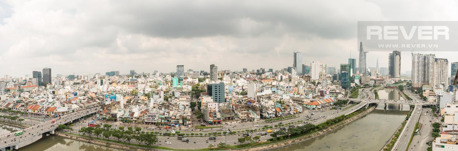 View Cho thuê căn hộ Masteri Millennium tầng cao, 2PN, view sông
