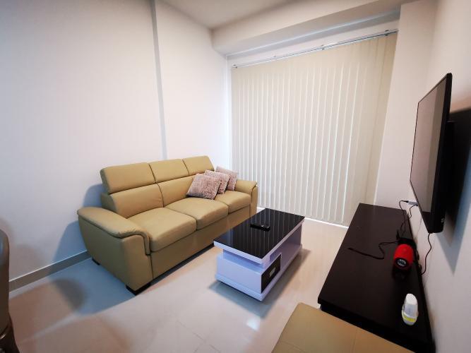 Phòng khách căn hộ The Sun Avenue, Quận 2 Căn hộ The Sun Avenue tầng cao đón view thành phố thoáng mát.