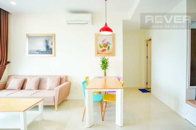 Phòng Ăn Cho thuê căn hộ Masteri Millennium 2PN, block A, đầy đủ nội thất, view sông, Bitexco và Landmark 81