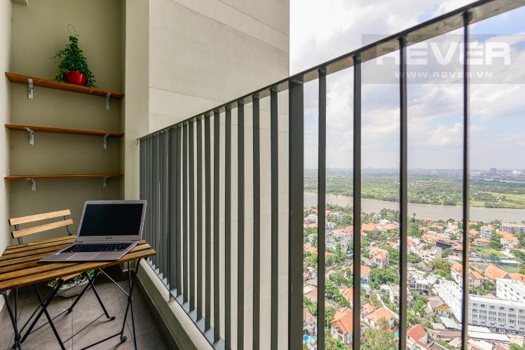 Bacony Cho thuê căn hộ Masteri Thảo Điền tầng cao, 2PN, đầy đủ nội thất, view sông