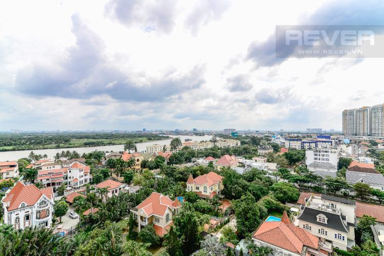 View Căn hộ Nassim Thảo Điền tầng trung, tháp A, 2 phòng ngủ, view sông