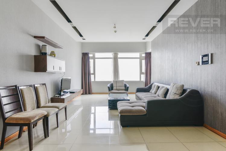 Phòng Khách Căn hộ Sài Gòn Pearl 3 phòng ngủ tầng cao Saphire nội thất đầy đủ