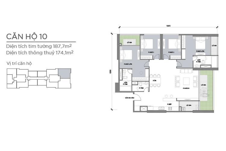Căn hộ 4 phòng ngủ Căn góc Vinhomes Central Park 4 phòng ngủ tầng cao P2 full nội thất