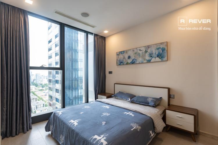 Phòng ngủ căn hộ VINHOMES GOLDEN RIVER Cho thuê căn hộ Vinhomes Golden River 1PN, tầng 19, đầy đủ nội thất