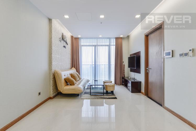 Phòng khách OfficeTel Vinhomes Central Park 2 phòng ngủ tầng cao P7 nội thất đầy đủ