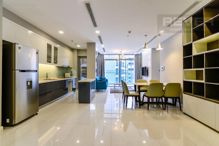 Phòng Khách Căn hộ Vinhomes Central Park tầng cao, Park 3, 3 phòng ngủ, full nội thất