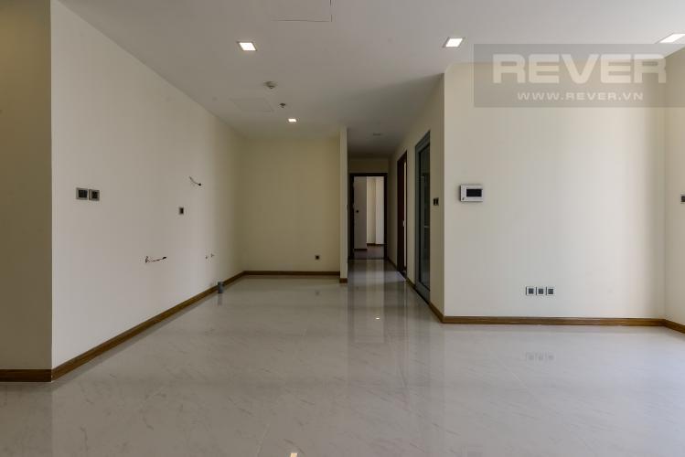 Phòng Khách Căn hộ Vinhomes Central Park 2 phòng ngủ, tầng cao P7, chưa có nội thất