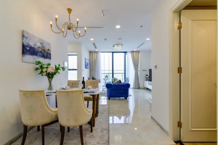 Cho thuê căn hộ Vinhomes Golden River tầng cao, 2PN, đầy đủ nội thất, view sông