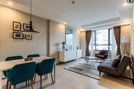 Căn hộ The Gold View, tầng cao, 2 phòng ngủ, hướng nhà Đông Bắc, đầy đủ nội thất