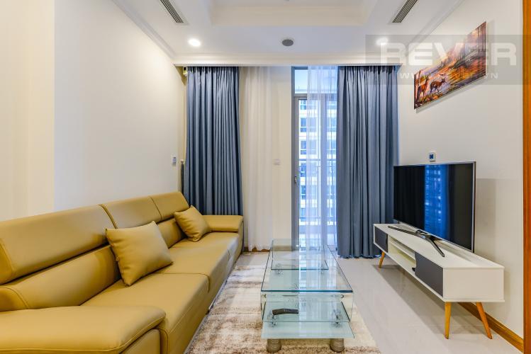 Phòng khách Căn hộ Vinhomes Central Park tầng trung, tháp Landmark 6, 1PN đầy đủ nội thất