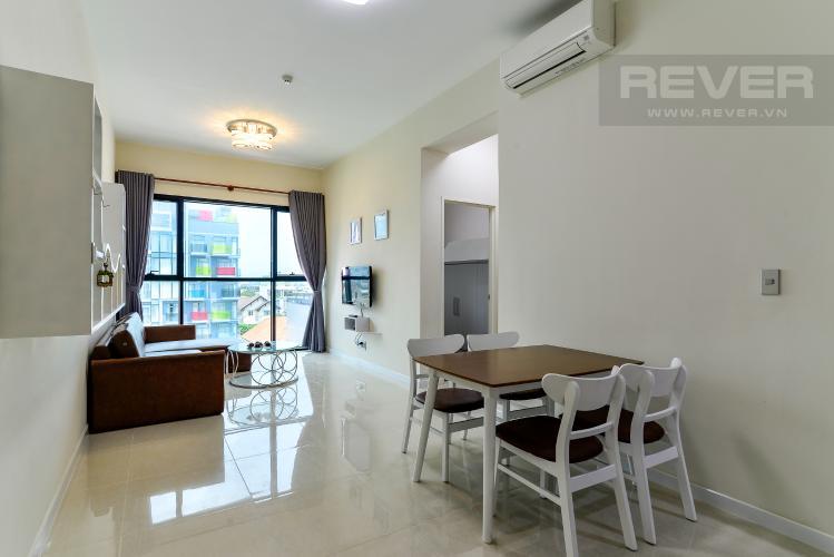 Phòng Khách Cho thuê căn hộ The Ascent 2PN, tầng thấp, đầy đủ nội thất, view hồ bơi và Landmark 81