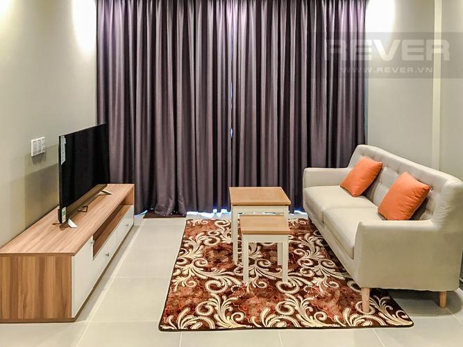 Phòng Khách Cho thuê căn hộ The Gold View 2PN, tầng cao, đầy đủ nội thất, view sông và Bitexco