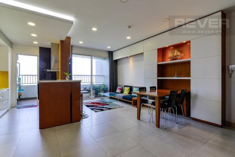 Phòng Khách Cho thuê căn hộ Lexington Residence 3PN, tháp LA, đầy đủ nội thất, view hồ bơi