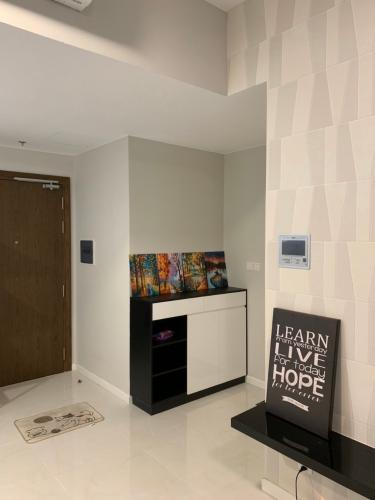 Phòng khách Masteri An Phú Quận 2 Căn hộ tầng cao Masteri An Phú 1 phòng ngủ.