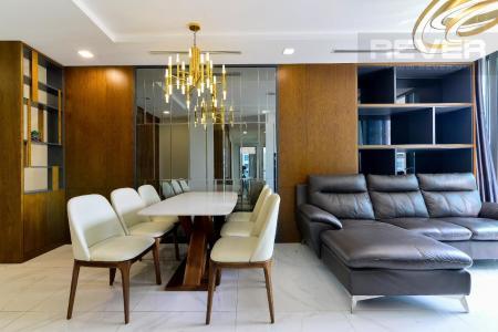 Cho thuê căn hộ Vinhomes Central Park 3PN, đầy đủ nội thất, căn góc view sông và công viên
