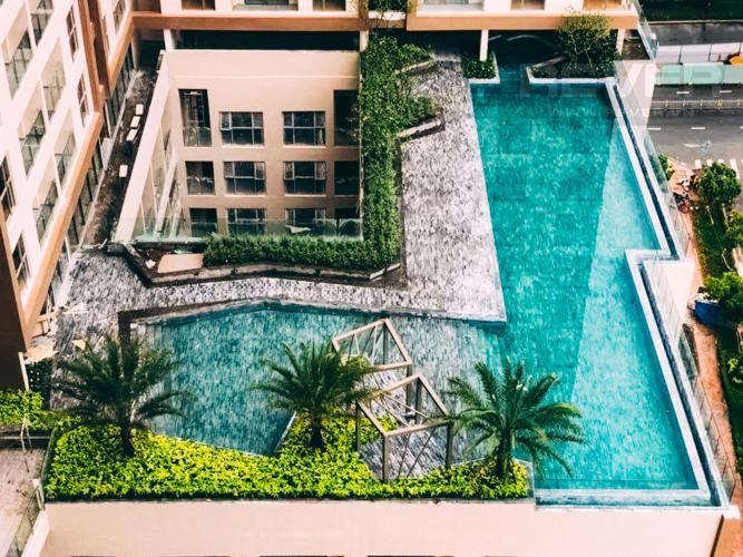 View Hồ Bơi Căn hộ Masteri Millennium 2PN tầng cao, view đẹp, nội thất đầy đủ