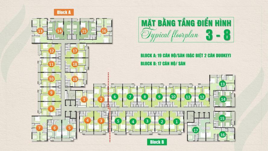 Layout tầng căn hộ Ricca, Quận 9 Căn hộ chung cư Ricca bàn giao nội thất cơ bản, hướng Đông.