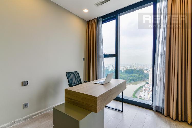 Phòng Làm Việc Cho thuê căn hộ Vinhomes Golden River tầng cao 3PN đầy đủ nội thất view sông