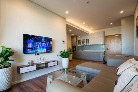 Cho thuê căn hộ Đảo Kim Cương 1PN tầng trung tháp Hawaii, đầy đủ nội thất, view nội khu yên tĩnh
