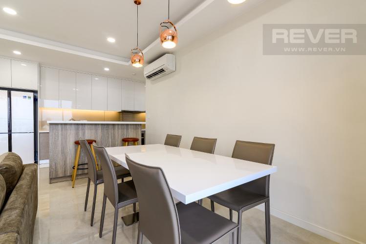 Phòng Ăn Cho thuê căn hộ Masteri Millennium tầng cao, 3PN, nội thất đầy đủ