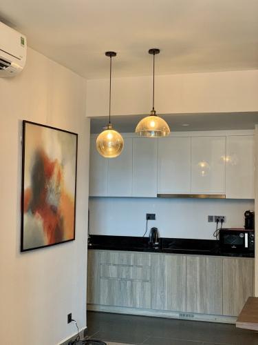 Phòng bếp Feliz En Vista Căn hộ Feliz En Vista đầy đủ nội thất, tầng cao.