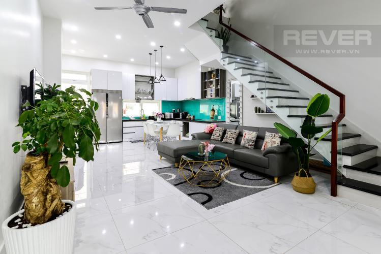 Phòng Khách Cho thuê nhà phố 3 tầng, 4PN, đường Liên Phường, Q.9, đầy đủ nội thất, diện tích đất 90m2